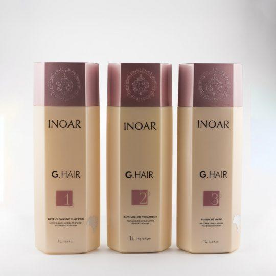 INOAR G HAIR  Kit de Lissage Brésilien (3 x 1000 ml)